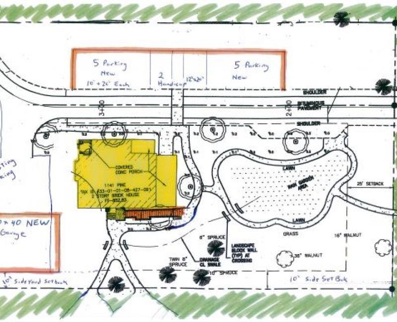 site plan - Pine